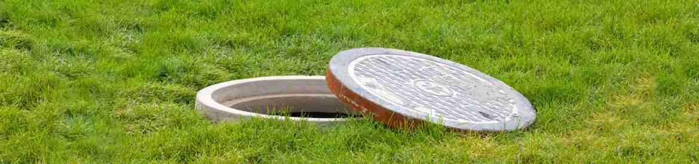 Image of a sewage manhole