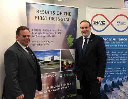 A visit from the Minister for Business Paul Wheelhouse SMP on Clyde Gateway