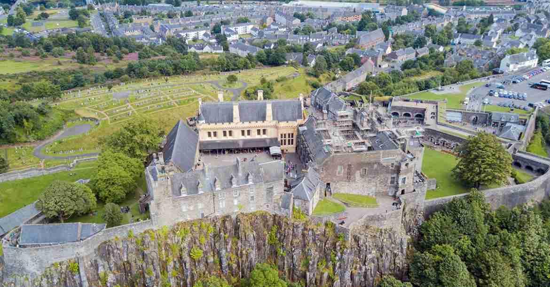 Aerial shot of Stirling Castle