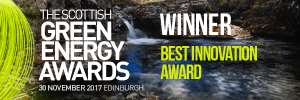 Winner of Best Innovation Aware at the 2017 Scottish Green Energy Awards